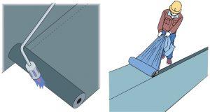 アスファルト防水トーチ工法粘着工法