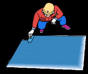 アスファルト防水塗膜工法